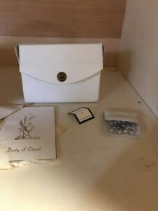 vintage my first holy communion purse & rosary 1968 B7