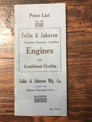 Reproduction Price List 32 Fuller Johnson Hit Miss Gasoline Kerosene Engines