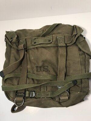 WW2 1945 Military Combat Upper Field Backpack W/Waterproof Liner RARE!