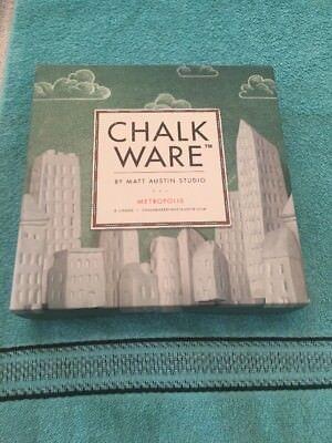 Matt Austin Studio Metropolis Chalk Ware Set Of (8) Chalks