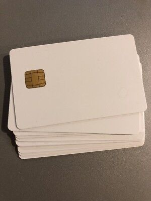 20 Pcs-blank Smart Card With Sle4428 Chip Magnetic Strip Hico 3 Track Therma Pvc