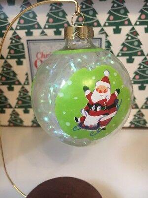 Usado, Hermoso Nieve Día Vidrio Bolas Navidad Hallmark Recuerdo Ornamento en Caja segunda mano  Embacar hacia Spain