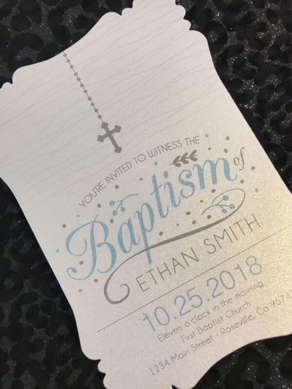 20 Boy Baptism Invitations With Cross