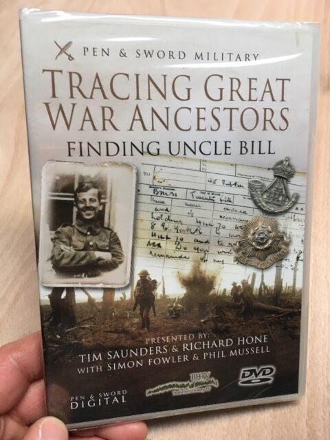 Tracing Your Great War Ancestors:First World War(UK DVD)New+Sealed WW1 History