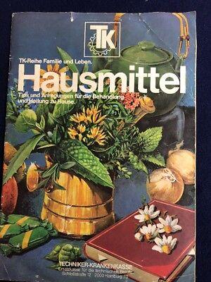 Alte Broschüre Techniker Krankenkasse- Hausmittel 70er Jahre