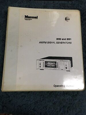 Marconi 2030 And 2031 Amfm Signal Generators Operators Manual