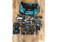 Makita 8 Piece 18v Cordless Combo Tool Kit