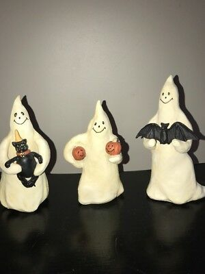 """7"""", 6.5"""", and 6"""" Halloween Three Ghosts By Ginny Diezel For ESC Trading Company"""