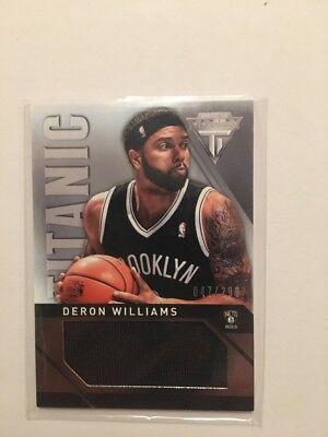 NBA Jersey Card Deron Williams Panini Titanium 13-14 47/299