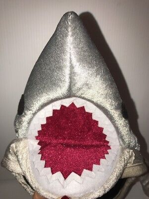 NWT Kids Shark Hat Halloween Costume Accessory Photo Booth Prop