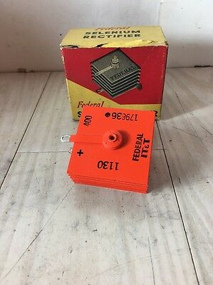 Federal 1130 Orange Selenium Rectifier Nos With Papers 179636