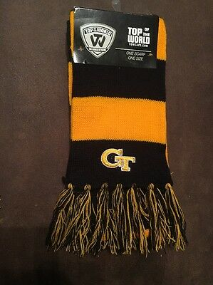 Georgia Tech Yellow Jackets - Team Stripe Logo Knit Winter Scarf NEW (Georgia Tech Knit)