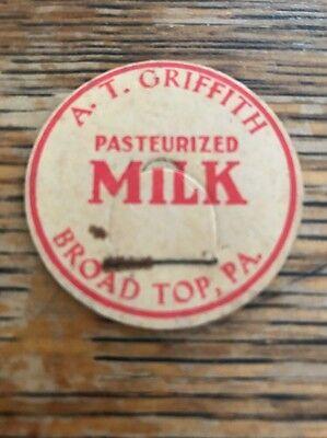 A.T. GRIFFITH ~ Broad Top, Pa Milk Bottle Cap
