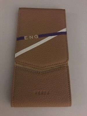 100% Open Vertu Light Brown Case For Aster, Signature Touch RARE(u.s. Seller)