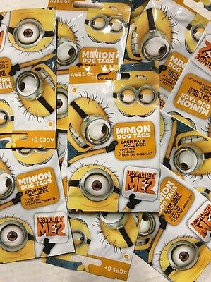 Despicable Me 2 Minions Dog Tags, LOT Of 20   Sealed Packs For Wearable - Dog Despicable Me
