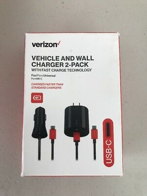 Verizon Usb C Car And Wall Charger Combo Pack