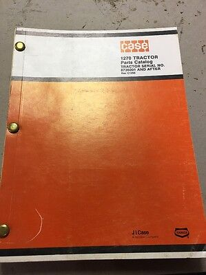 Case 1270 Tractor Sn 8736001 After Parts Manual