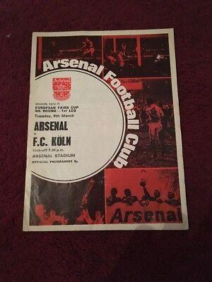 ARSENAL V FC KÖLN - 9-3-1971