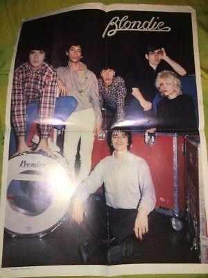 Blondie Band poster Debbie Harry Clem Burke Jimmy Destri Chris Stein 1979 Music