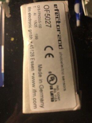 Ifm Efector 200 Of5027 Photoelectric Sensor. S101
