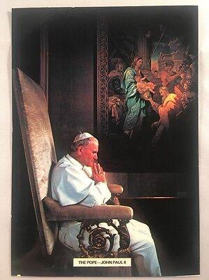His Holiness Pope John Paul II Postcard SHS Postmark 28/5/1982 Gatwick Arrival