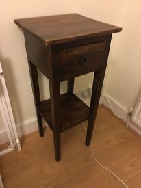 Antique Real Wood Bed Side Table Console lamp stand