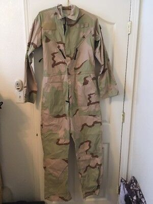 0acc3cd9ba2 US Military issue Desert DCU Camouflage Mechanics Coveralls Long sleeves  Small