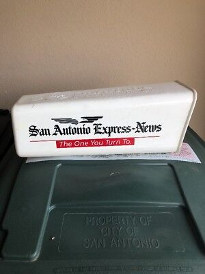 San Antonio Express Red Vintage Newspaper Route Delivery Tube Box Receptacle