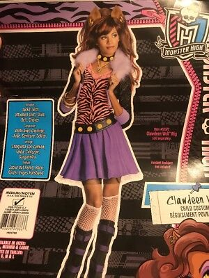 Monster High Clawdeen Wolf Costume Girl M(8-10)