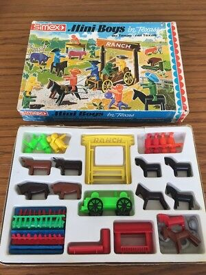 Mini Boys In Texas Play Set Simex Made In Germany Used Condition