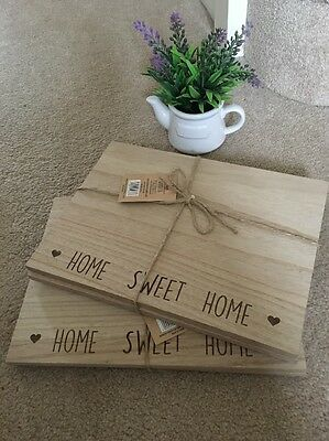 4 SHABBY but  CHIC Heart Table PLACE MATS  KITCHEN Wooden