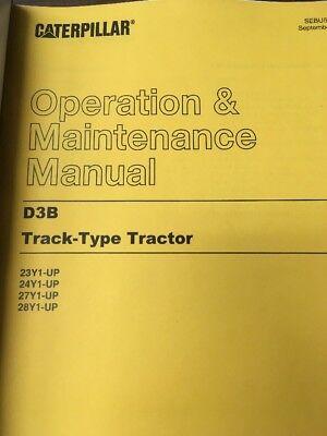 Cat Caterpillar D3b Operator Operation Maintenance Manual Book Owners Dozer