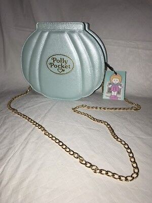 - Official Licensed Polly Pocket Blue Clam Shell Shape Cross Body Bag Ladies Purse