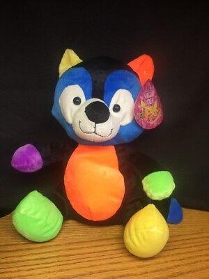 - (M) Sugar Loaf Eco Friendly Toy Multi Colored Raccoon stuffed/plush NWT 11