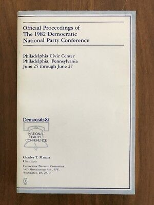 Official Proceedings of the 1982 Democratic National Party Conference