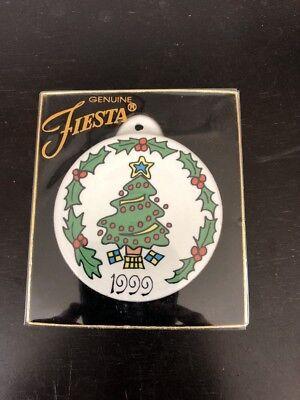 NIB 1999 FIESTA Christmas Tree Ornament Homer Laughlin China Co. EX! Clean!