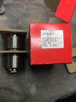 Set Of Reed B18 C-4 Thread Rolling Dies 78-14 Unrf .875wf Free Shipping N