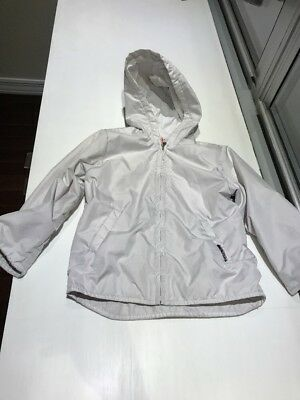 IL GUFO Girl's White Hooded Coat, Size 4T