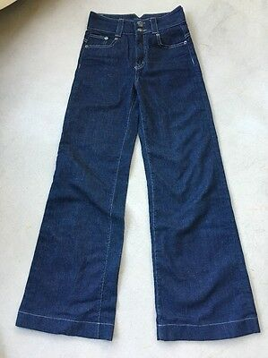 del forte organic denim cotton/spandex ladies embroidered jeans size 31 USA made