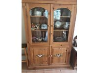 SOLID VICTORIAN PINE KITCHEN DRESSER /STORAGE UNIT IN EXCELLENT USED CONDITION FREE LOCAL DELIVERY