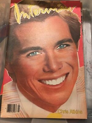 VINTAGE INTERVIEW MAGAZINE- MAY 1983 CHRIS ATKINS COVER ANDY WARHOL RARE HTF