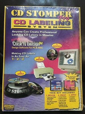 Cd Stomper Pro Cd Labeling System New Old Stock Nos In Package