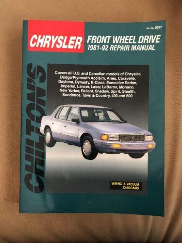 CHILTON CHRYSLER FRONT WHEEL DRIVE 1981-92 REPAIR MANUAL  [PAPER BACK] 8267