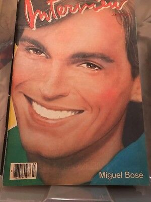 VINTAGE INTERVIEW MAGAZINE JULY 1983 COVER MIGUEL BOSE ANDY WARHOL