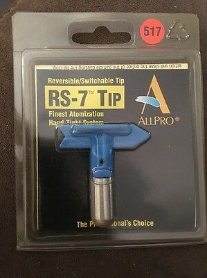 Allpro Reversible Switchable Tip Rs-7 Airless Paint Spray Gun Tip