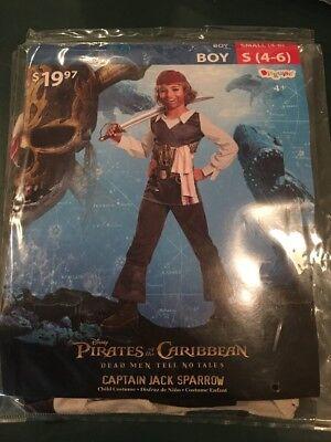 Jack Sparrow Costume For Boys (Halloween Costume Boys Pirates Caribbean Captain Jack Sparrow Small 4-6)