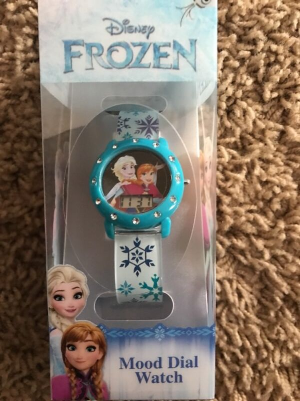 Disney Frozen LCD Digital and Dual Mood Dial Watch Anna & Elsa New