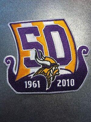 Minnesota Vikings Nfl 50Th Anniversary Patch 1961 To 2010 3 5  X 4