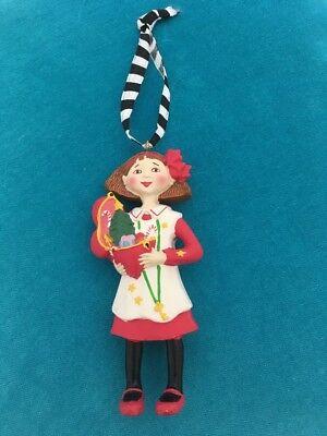 "Mary Engelbreit Girl with Open Heart Christmas Ornament 4"" Vintage HTF"
