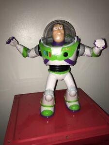 "Buzz Lightyear Disney Toy Story 16"" Remote Control U-Command Thinkway Toys RARE!"
